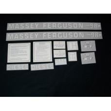 Massey Ferguson 98 Diesel Vinyl Cut Decal Set (VMF114)