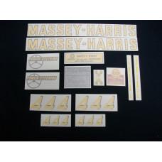 Massey Harris 444 Vinyl Cut Decal Set