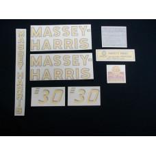 Massey Harris 30 Vinyl Cut Decal Set