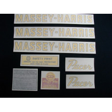 Massey Harris Pacer Tractor Vinyl Cut Decal Set