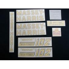 Massey Harris 102 Senior Twin Power Vinyl Cut Decal Set