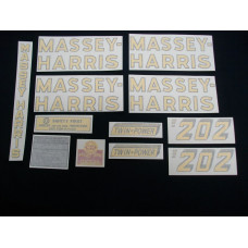 Massey Harris 202 Standard Vinyl Cut Decal Set