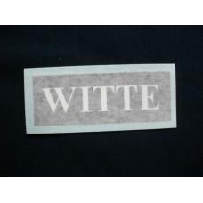 Witte Engine Witte Vinyl Cut Decals (VW102)