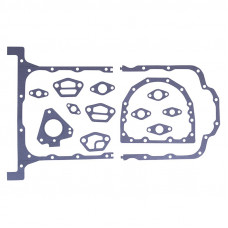 Perkins | Caterpillar Engines (Gas, Diesel) Pan Gasket Set (Cast Pan/Includes 6 Flange Gaskets) (212, 236, 243, 248, 258)