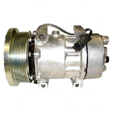 Challenger MT835 Tractor Sanden Compressor with Serpentine Clutch - New