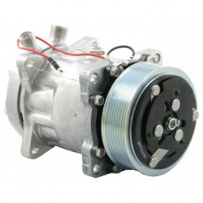 Ford | New Holland TM150 Tractor Sanden Compressor with Serpentine Clutch - New