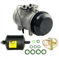 John Deere 1075 Combine Compressor/Drier/Valve Kit - with New Compressor