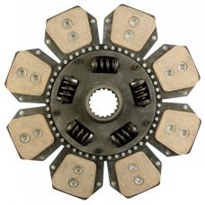 Hesston-Fiat 115-90 Tractor 13-3/4 inch Disc - 8 Pad with 2 inch 18 Spline Hub - New