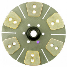 John Deere 4000 Tractor 12 inch Disc - 6 Large Pads with 1-1/4 inch 19 Spline Hub - New