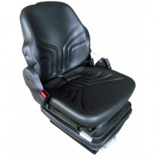 Case | Case IH 850K Black Vinyl Seat with Mechanical Suspension