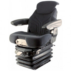 Caterpillar 16M Black and Gray Fabric Seat with Air Suspension