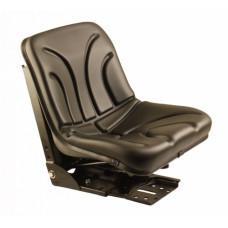 Kubota M8200N Black Vinyl Bucket Seat with Mechanical Suspension