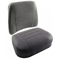 Deutz | Deutz Allis 9170 Gray Vinyl and Fabric Cushion Set
