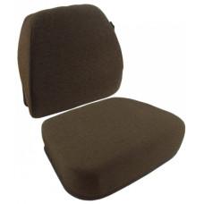 John Deere 9610 Dark Kayak Brown Fabric Cushion Set with Lumbar