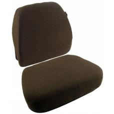 John Deere 4890 Windrower Dark Kayak Brown Fabric Cushion Set with Lumbar