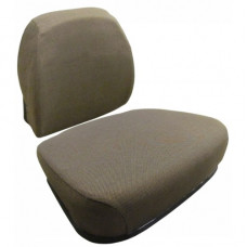 John Deere 9410 Dark Brown Fabric Cushion Set with Lumbar