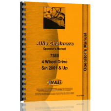Allis Chalmers 7580 Tractor Operators Manual (SN# 2001 and Up) (2001+)