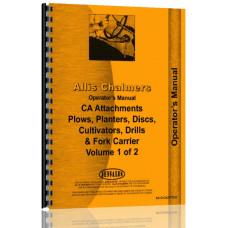 Allis Chalmers CA Tractor Attachments Operators Manual