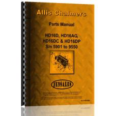 Allis Chalmers HD16DC Crawler Parts Manual (SN# 5901-9550) (5901+)
