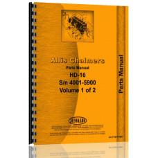 Allis Chalmers HD16DC Crawler Parts Manual (SN# 4001-5900)