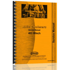 Allis Chalmers 403 Winch Service Manual for HD3 Crawler