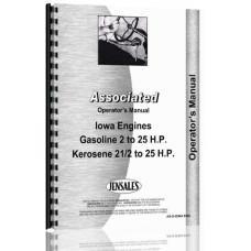 Associated Iowa 2-25 HP Engine Operators Manual