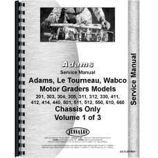 Le Tourneau 411 Grader Service Manual (Chassis)