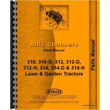 Allis Chalmers 314D Lawn & Garden Tractor Parts Manual