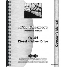 Allis Chalmers 4W-305 Tractor Operators Manual