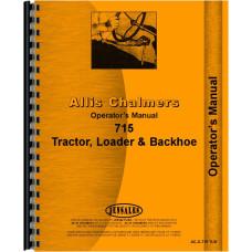 Allis Chalmers 715 Tractor Loader Backhoe Operators Manual