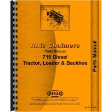 Allis Chalmers 715 Tractor Loader Backhoe Parts Manual