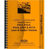 Allis Chalmers 917 Lawn & Garden Tractor Operators Manual