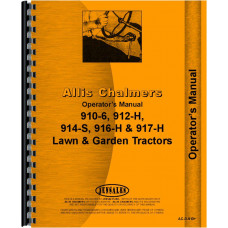 Allis Chalmers 914 Lawn & Garden Tractor Operators Manual