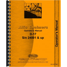 Allis Chalmers D17 Tractor Operators Manual (SN# 24001-42000) (Gas & LP)