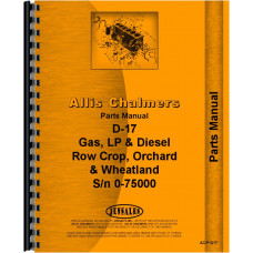 Allis Chalmers D17 Tractor Parts Manual (SN# 0-75000) (0-75000)