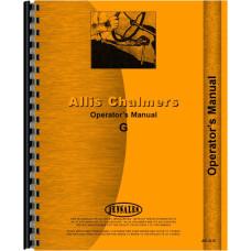 Allis Chalmers G Tractor Operators Manual