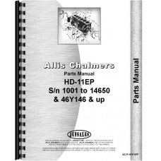 Allis Chalmers HD11EP Crawler Parts Manual (SN# 10001-14650, SN# 46Y14651 and Up)