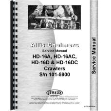 Allis Chalmers HD16DC Crawler Service Manual (SN# 101-5900)