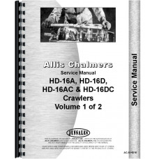 Allis Chalmers HD16DP Crawler Service Manual (SN# 5901-9550)