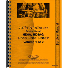 Allis Chalmers HD6E Crawler Service Manual (SN# 11094 and up, 14484 and up) (Chassis)