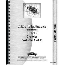 Allis Chalmers HD6G Crawler Parts Manual (SN# 13322 and Up) (13322+)