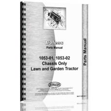 Bolens 1053-01 Lawn & Garden Tractor Parts Manual