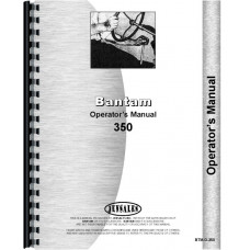 Bantam Crane 350 Plow Operators Manual