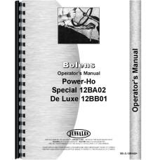 Bolens 12BA02 Power-Ho Walk Behind Tractor Operators Manual