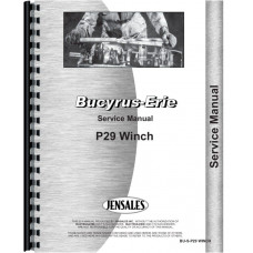 Bucyrus Erie P29 Winch Attachment Service Manual