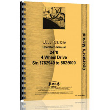 Case 2470 Tractor Operators Manual (SN# 8762941-8825000) (8762941-8825000)