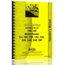 Caterpillar 120 Grader Operators Manual (S/N 10R,11R,13U,14U,224,24R,34R,55F) (10R, 11R)