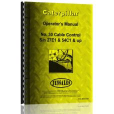 Caterpillar 30 Cable Control Attachment Operators Manual