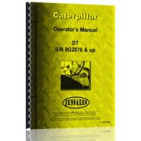 Caterpillar D7 Crawler Operators Manual (S/N 9G2876 +)