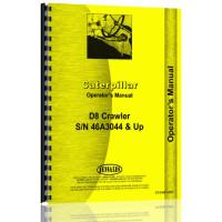 Caterpillar D8 Crawler Operators Manual (SN# 46A3044 & Up) (46A3044+)